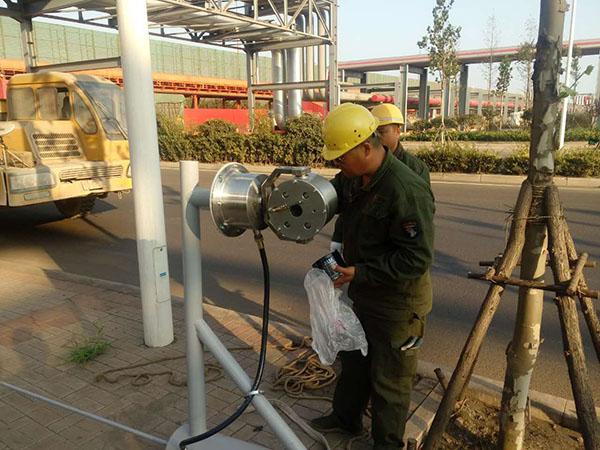 青岛港防爆红外球机安装项目